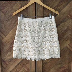 Club Monaco laced mini skirt